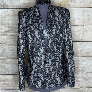 MSK Black Lace dressy Blazer Jacket Size XL